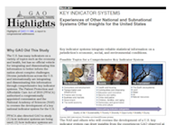 Thumbnail of GAO Key Indicator Systems report